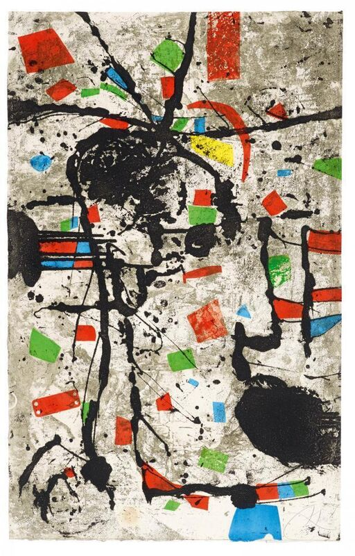 Joan Miró, 'The Dogs. Els Gossos. No VIII', 1979, Print, Original etching with aquatint and textural open-bite in colours, William Weston Gallery Ltd.