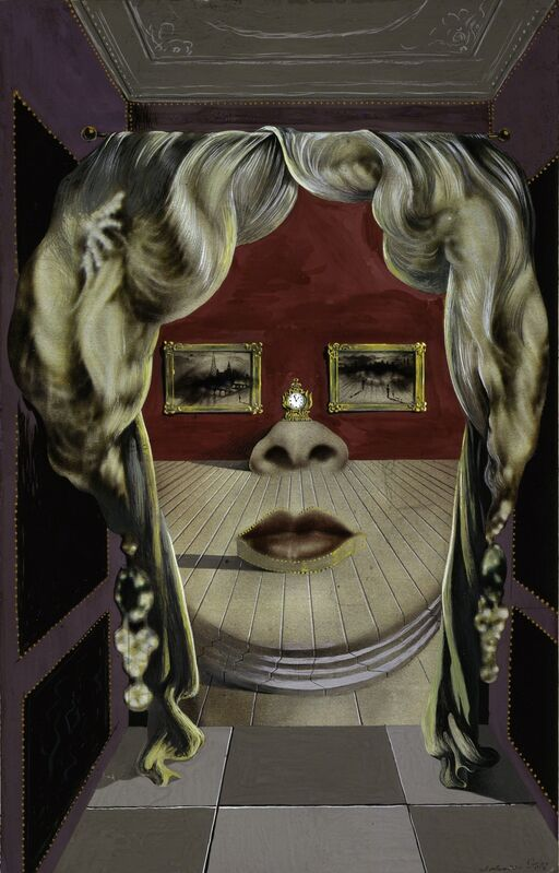 Salvador Dalí, 'Mae West's Face which May be Used as a Surrealist Apartment', 1934-1935, Painting, Gouache, with graphite, on commercially printed magazine pap, Art Institute of Chicago