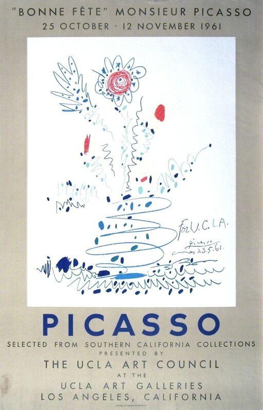 Pablo Picasso, 'Bonne Fete Monsieur Picasso', 1961, Print, Lithograph, ArtWise