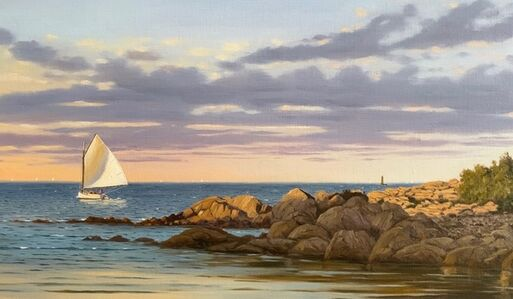 Sergio Roffo, 'Sailing the Shoreline by Minot Light, Cohasset', 2020