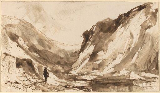 William M. Hart, 'Deep Valley in Mountainous Landscape'