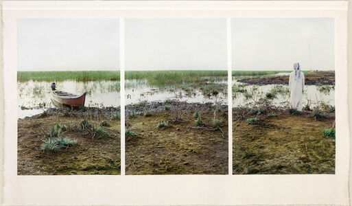 Meridel Rubenstein, 'Ehmad and His Boat, Central Marshes'