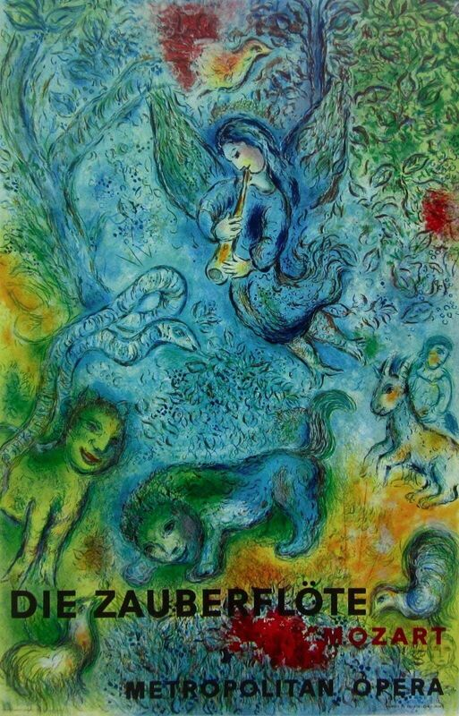 Marc Chagall, 'The Magic Flute Die Zauberflote', 1973, Posters, Lithograph on wove paper, Art Commerce