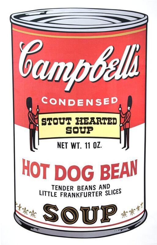 Andy Warhol, 'Campbell's Soup II: Hot Dog Bean', 1969, Print, Screenprint on Wove Paper, Gerald Hartinger Fine Arts