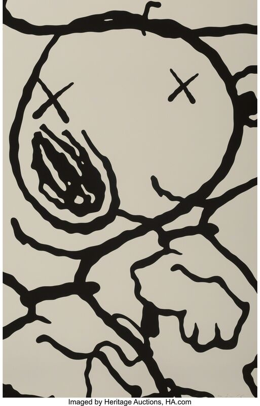 KAWS, 'Man's Best Friend, portfolio', 2016, Print, Screenprints in black and white on Saunders Waterford High White paper, Heritage Auctions