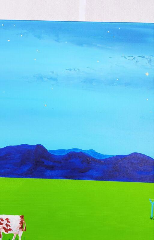 Jack Graves III, 'Full moon - Jack-o-Lantern', 2021, Painting, Acrylic Painting on Canvas, Graves International Art