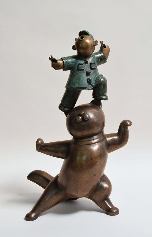 Jiang Shuo 蒋朔, '中国黑猫; China Black Cat', 2014, Sculpture, Bronze, Linda Gallery