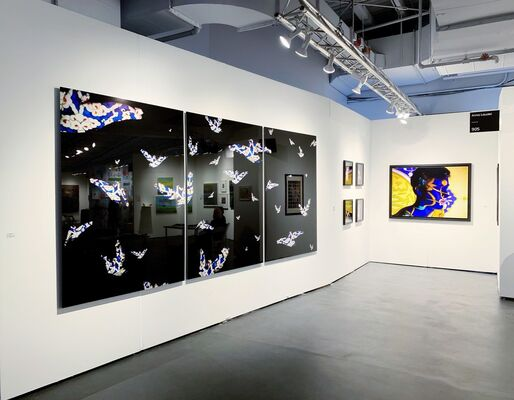 Anna Laudel  at Art on Paper New York 2019, installation view