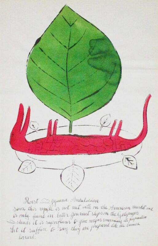 Andy Warhol, 'Wild Raspberries (136A)', 1959, Print, Offset lithograph and watercolor, Hamilton-Selway Fine Art