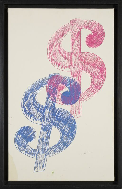 Andy Warhol, '$ Sign - Double ', 1980, Drawing, Collage or other Work on Paper, Silkscreen on paper, Rudolf Budja Gallery