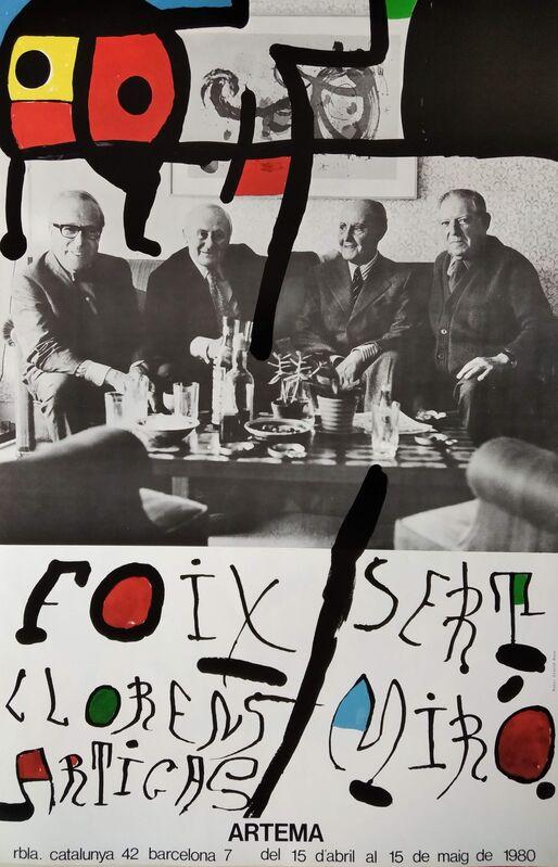 Joan Miró, 'Sert - Miró - Foix - Llorens Artigas, 1980', 1980, Posters, Offset print on paper, promoart21