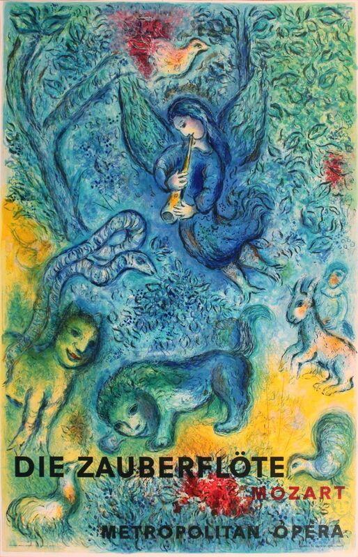 Marc Chagall, 'The Magic Flute (Die Zauberflote)', 1967, Print, Lithograph, ArtWise