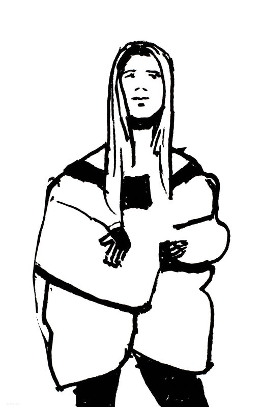 Alex Katz, 'Shopper #12', 2015, Print, 1-color silkscreen on Saunders Waterford 425 gsm paper, Haw Contemporary