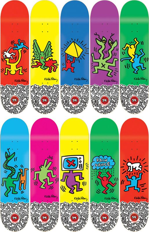 Keith Haring, 'Set of 10', 2012, Design/Decorative Art, Screenprint on wood, EHC Fine Art