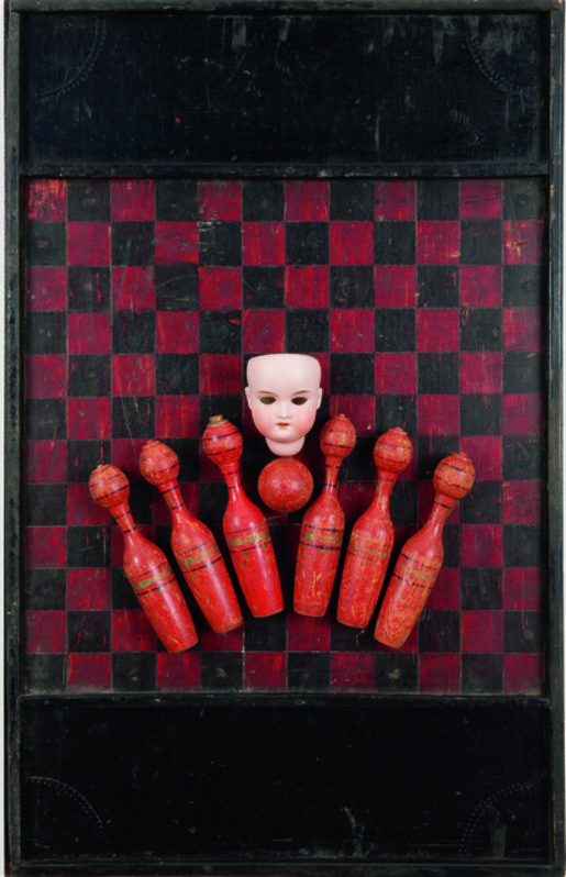 Ilse Getz, 'The Red Game', 1978, Mixed Media, Mixed Media construction, International Collage Center