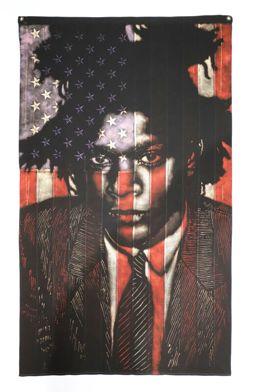 Pam Glew, 'Basquiat', 2020, Print, Giclee on Somerset Advanced Velvet 330g paper. Hand-finished by the artist with dripped tar gel and acrylic. (Unframed), AURUM GALLERY