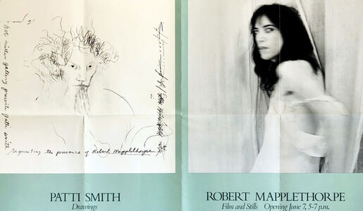 Robert Mapplethorpe, 'Robert Mapplethorpe Patti Smith 1978 exhibition poster ', 1978