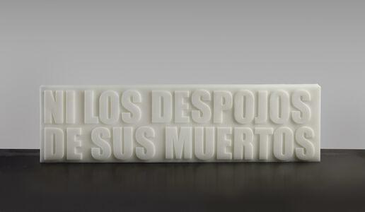 Cristina Piffer, 'Neither the remains of their dead | Ni los despojos de sus muertos', 2016
