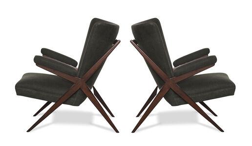 Franco Albini, 'Pair of CA 832 Lounge Chairs', ca. 1948
