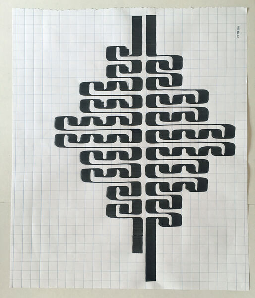 Tauba Auerbach, 'Ligature Drawing 22', 2019