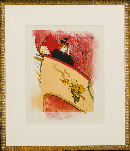 Henri de Toulouse-Lautrec, 'La loge au mascaron doré', 1950