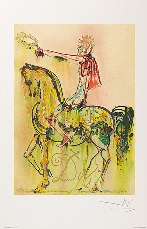 Salvador Dalí, 'Chevalier Romain', 1983, Print, Lithograph, Viva la Vida Art Gallery