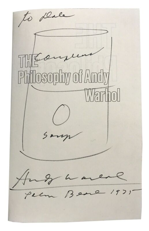 Andy Warhol, 'Campbells Soup ', 1975, Drawing, Collage or other Work on Paper, Black ink on paper, Woodward Gallery