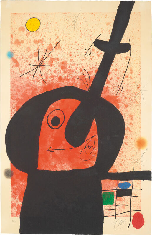 Joan Miró, 'Le Penseur puissant (The Mighty Thinker)', 1969, Print, Etching and aquatint with carborundum in colours, on Arches paper, the full sheet., Phillips