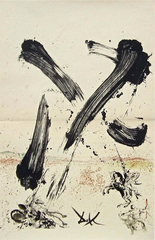 Salvador Dalí, 'Attack on the Windmills', 1957, Print, Stone Lithograph on Japon Imperial paper, Art Commerce