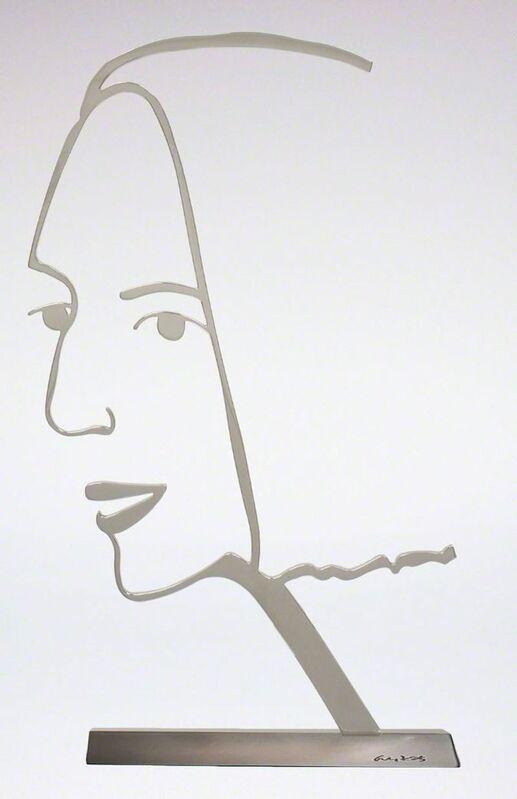 Alex Katz, 'Ada 2 (Outline)', 2018, Sculpture, Polished aluminum on bronze base., Frank Fluegel Gallery