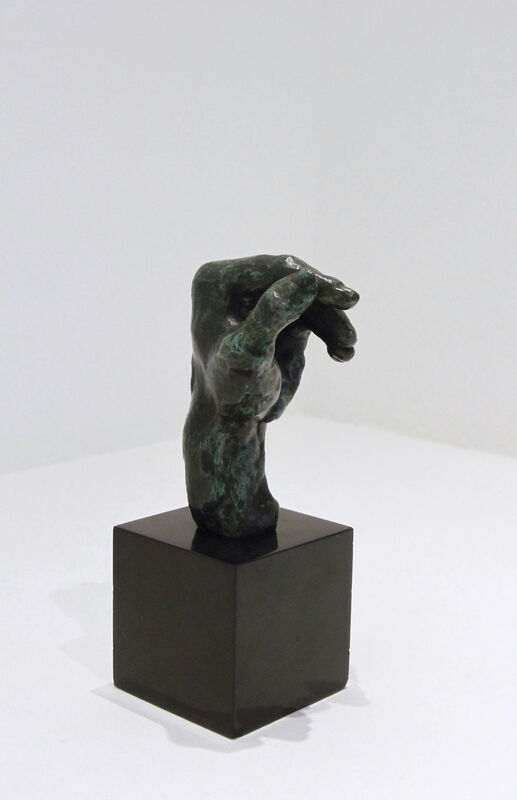 Auguste Rodin, 'Main gauche no.4', 1980, Sculpture, Bronze with a green patina mounted on a black marble base, BAILLY GALLERY