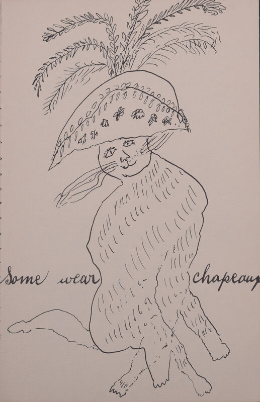 Andy Warhol, 'Some wear chapeaux from Holy Cats by Andy Warhol's Mother', ca. 1957, Print, Some wear chapeaux from Holy Cats by Andy Warhol's Mother, NCAG