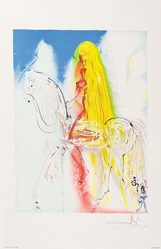 Salvador Dalí, 'Lady Godiva', 1983, Print, Lithograph on Vélin d'Arches Paper, Art Lithographies