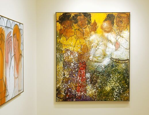 Grace Hartigan: The Late Paintings, installation view