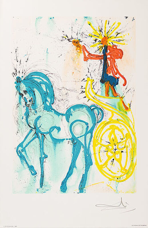 Salvador Dalí, 'Le Cheval De Triomphe', 1983, Print, Lithograph, Viva la Vida Art Gallery