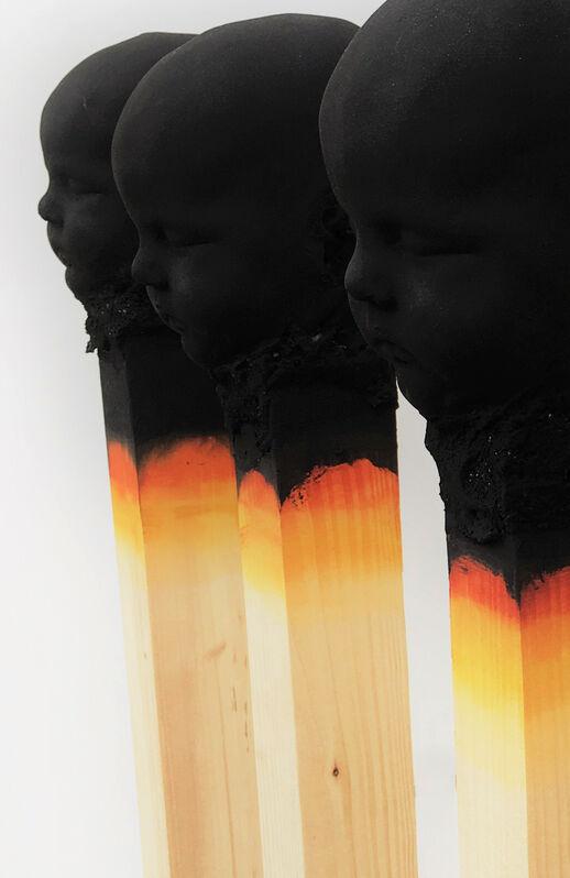 Wolfgang Stiller, '5 Strokes (3/3) ', 2019, Sculpture, Wood, polyurethane, paint, AbrahamArt