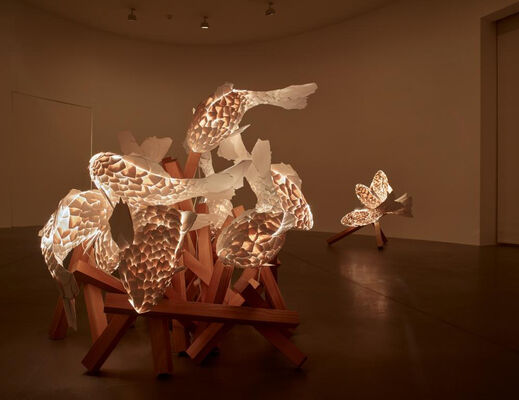 Frank Gehry: Fish Lamps, installation view