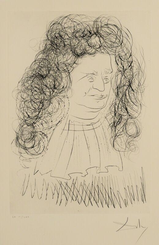 Salvador Dalí, 'Portrait of La Fontaine (Field 74-1-A; M&L 653d)', 1974, Print, Etching with drypoint, Forum Auctions