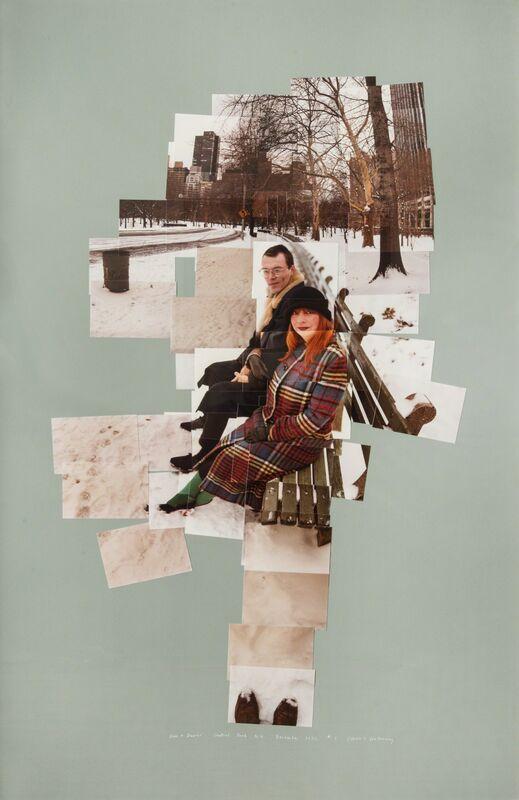 David Hockney, 'Anne + David, Central Park N. Y. December 1982 # 5', 1982, Photography, Chromogenic-print photocollage on cardboard, Galleria il Ponte