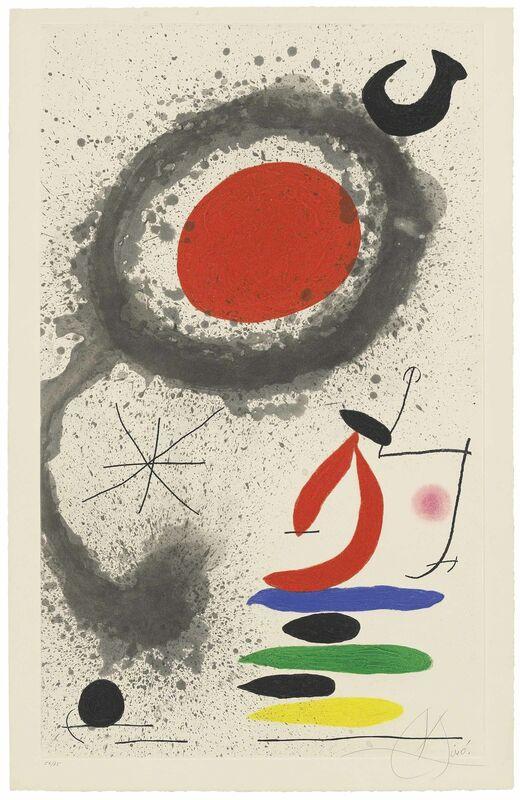 Joan Miró, 'Soleil ebouillanté', 1969, Print, Etching with aquatint and carborundum in colours on wove paper, Christie's