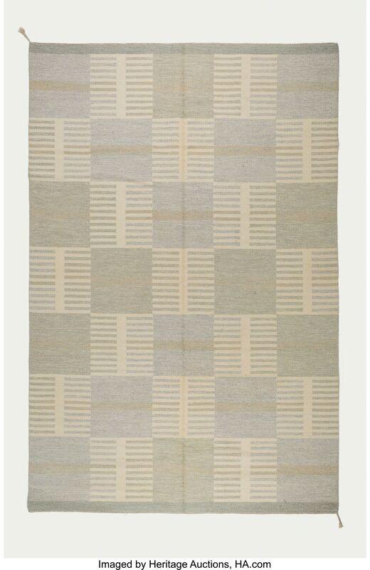 Carl Malmsten, 'Geometric Flat-Weave Carpet', circa 1950, Design/Decorative Art, Hand-woven pigmented wool, Heritage Auctions