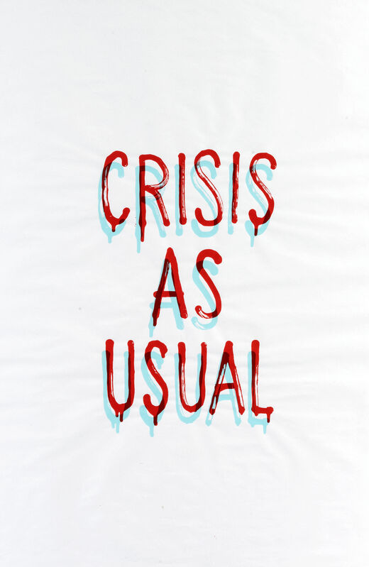 Banksy, 'Crisis As Usual', 2019, Print, GDP screen print on 50gsm paper, Tate Ward Auctions