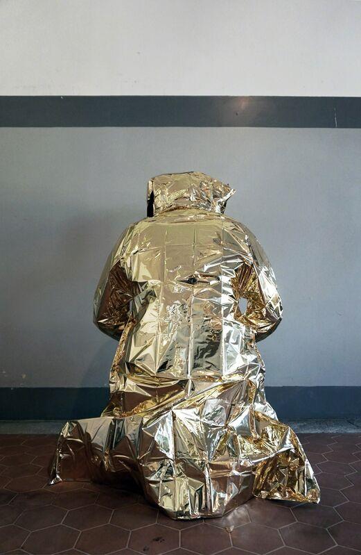 Andrea Mineo, 'Invisibility Cloak', 2015, Textile Arts, Metallic fabric, instruction, plastic, Rizzutogallery