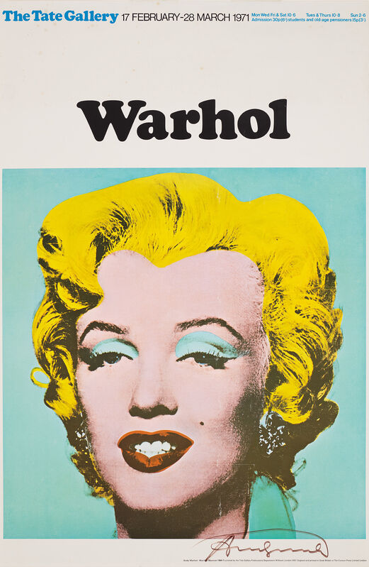 Andy Warhol, 'Marilyn (Exhibition poster for 'Warhol: The Tate Gallery')', 1971, Print, Offset lithograph in colours, on smooth wove paper, the full sheet., Phillips