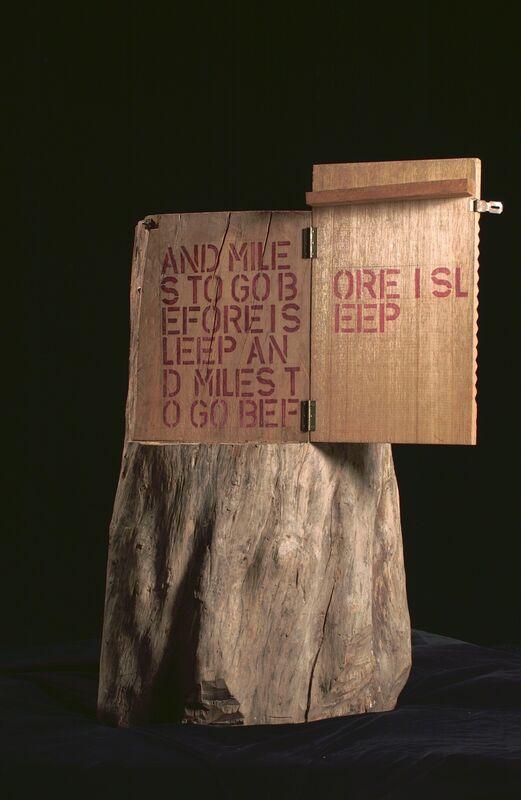 Cheo Chai-Hiang, 'Untitled (Miles to go before I sleep)', 1987, Mixed Media, Wood, mixed media, Singapore Art Museum (SAM)
