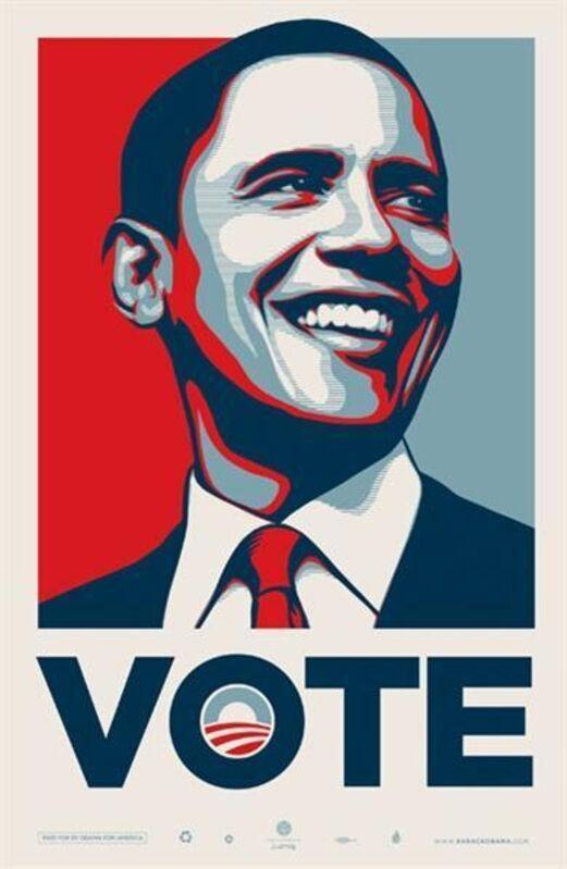 Shepard Fairey, 'VOTE Obama', 2008, Print, Offset lithograph, EHC Fine Art