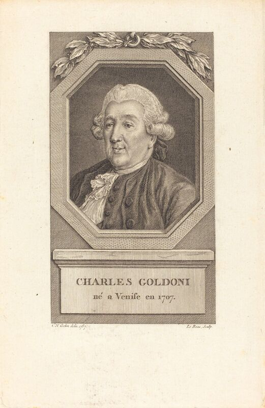 Pierre Adrien Le Beau after Charles-Nicolas Cochin II, 'Charles Goldoni', in or after 1787, Print, Engraving on laid paper, National Gallery of Art, Washington, D.C.