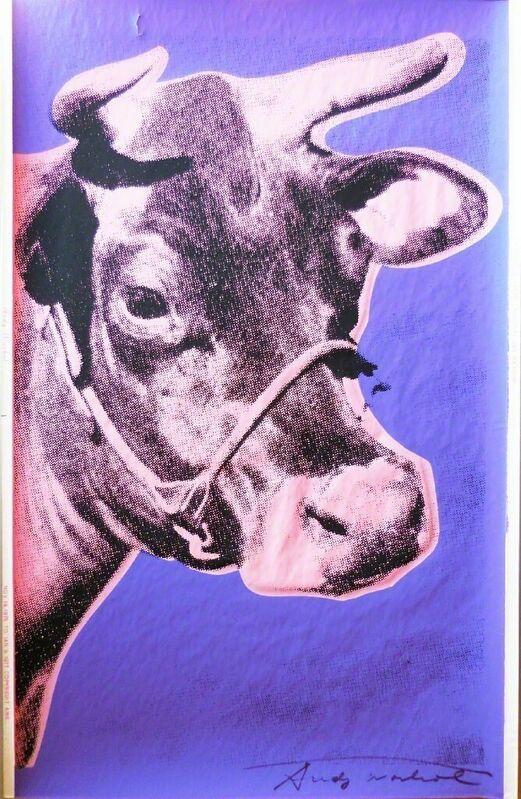 Andy Warhol, 'Cow II.12A', 1976, Print, Screenprint on wallpaper; Signed, Pop Fine Art