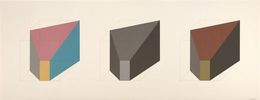 Sol LeWitt, 'A Form Derived from a Cube, Simple & Superimposed, Color & Black/Gray, Plate #06 (see S. 1985.01, see K. 1985.01)', 1985