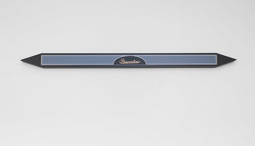Gianni Piacentino, 'BLACK-INDIGO AND GRAY-BLUE POINT SHAPED BAR WITH COPPER SIGNATURE I', 1970-1975